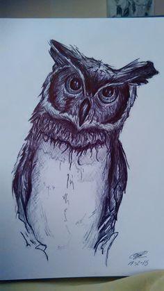 Ballpoint pen owl