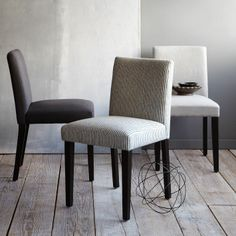 Porter Upholstered Dining Chair | west elm - As head chairs for your future dining room table