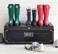 #shoes #footwear #bootroom #blanketbox #chest #vintagedecor