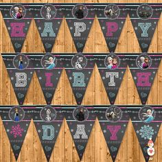 Printable Frozen Birthday Banner Chalkboard  by CoolEtsyPrintables, $4.95
