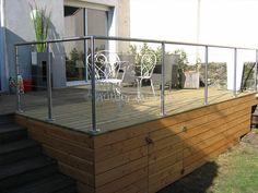 terrasse bois suspendue sur pilotis et balcons bois angers artisan construction menuisier maine
