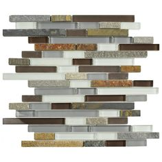 Found it at Wayfair - Sierra Random Sized Glass and Natural Stone Mosaic Tile in Tundra