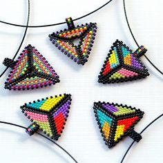 multicolor peyote triangle