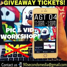 #GIVEAWAY 🎉🚨Our #Pic&Vid Workshop of photos and videos with your cell phone is coming up on 📸Friday August 04 from 11:30 am-1:30pm. 👏🏼We have giveaway tickets for you!!! 😃😍 Just contact us 🙋🏻90secondsmedia@gmail.com  ___ Want to 💪🏽sponsor workshops for entrepreneurs 📲contacts us!  ___ Special price thanks to our sponsors ✅ @hooverworksadmin and @gcellphonerepair  ___ *TALLER EN ESPAÑOL MUY PRONTO  #workshop #video #pics #english #houston #local #entrepreneur #smallbusiness…