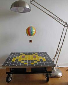 DIY Möbel aus Europaletten – 101 Bastelideen für Holzpaletten - holz paletten möbel selbst basteln DIY ideen verspielt bodenlampe