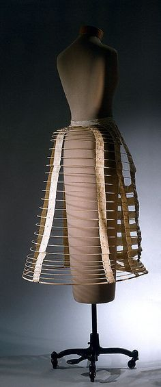 Cage Crinoline Made Of Metal And Cotton - American   c.1880's  -  The Metropolitan Museum Of Art