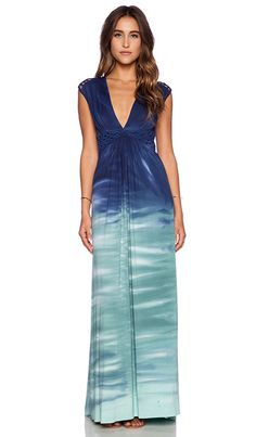 sky Persisse Maxi Dress in Green | REVOLVE