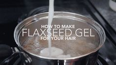 I've bought flaxseed gel for years. I've cooked with flaxseeds and noticed they naturally coagulate during the heating process. This tutorial just makes sense. It is a natural gel which will save you money. Coconut Oil Hair Treatment, Coconut Oil Hair Growth, Coconut Oil Hair Mask, Oil For Curly Hair, Hair Oil, Natural Hair Gel, Natural Hair Styles, Flax Seed Hair Gel, Chia Gel
