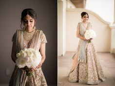 A gold sequenced Sabyasachi lehenga with pink and turquoise accents for Bride Natasha