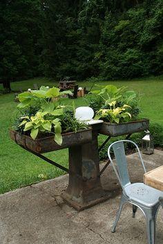 garden: repurposed garden planter