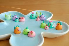 Little #pastel #polymer #clay  monsters