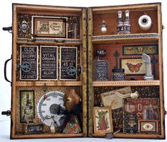Apothecary display box made using Graphic 45 Olde Curiosity Shoppe - Donna Braaten-Budzynski