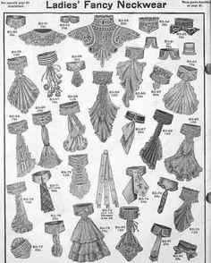 Edwardian Neckwear: Collars, Jabots & Fichus - Sew HistoricallyYou can find Edwardian fashion and more on our website. Edwardian Clothing, Edwardian Era, Edwardian Fashion, Vintage Fashion, Fashion Goth, Vintage Beauty, Fashion Outfits, Historical Costume, Historical Clothing