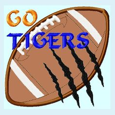 Cute, Unique Designs for all occasions by LunaEmbroidery Applique Embroidery Designs, Machine Embroidery, Hardware Software, Saddle Bags, Sewing Projects, Tigers, Football, Fabric, Etsy