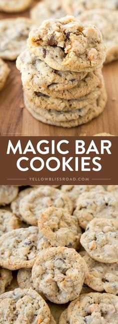 Magic Bar Cookies - Just like the 7 layer magic bars, with coconut, sweetened condensed milk and chocolate chips, but in a neat little…