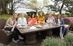 The women of TODAY, who this year are all moms, have a special Mother's Day lunch outside in the garden of Kathie Lee's home.