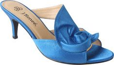 The Joslin comes in a perfect set of colors to match a bridesmaid dress, mother of the bride, or for the bride as your something Blue Kitten heel slide with a spiral detail