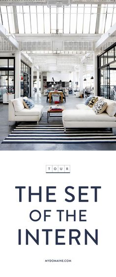 Step onto the set of the hit film, The Intern, with Anne Hathaway and Robert De Niro via @mydomaine.