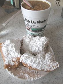 Cafe du Monde, French Quarter New Orleans, LA - They have little pop-up stands in their malls and elsewhere. Good stuff!