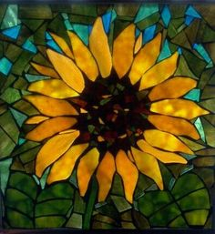 Sunflower Mosaic. I may just need one of these!