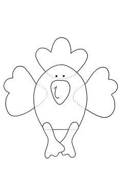 Vorlagen - Fensterbilder: Hühner-Bande