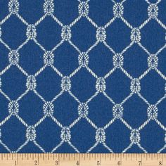 Amazon.com: Waverly Sun N Shade Square Knots Marine Fabric