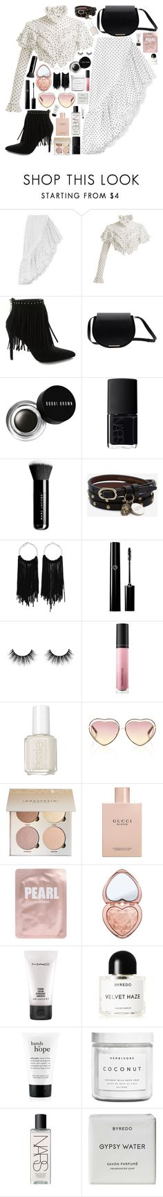 """Untitled #1129"" by douxlaur ❤ liked on Polyvore featuring Rodarte, Pierre Balmain, Bobbi Brown Cosmetics, NARS Cosmetics, Marc Jacobs, Alexander McQueen, Bare Escentuals, Essie, Chloé and Gucci"