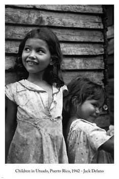Jack Delano CHILDREN IN UTADO Arts Poster 24x36 PUERTO RICO 1942 photo