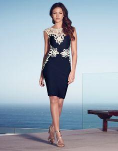Lipsy Love Michelle Keegan Lace Applique Shift Dress