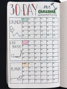 Fitness Tracker In The Bullet Journal