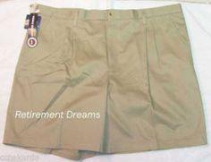 Mens Beige Khakis Walk Shorts New Size 46 Wrinkle Free | eBay