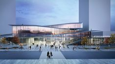 "Image © Kengo Kuma and Associates Kengo Kuma & Associates won the first prize for the competition ""Saint-Denis Pleyel Emblematic Train Station"" in Sain"