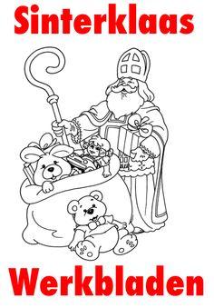 * Sinterklaas: Werkbladen voor alle groepen! Diy And Crafts, Crafts For Kids, Arts And Crafts, Christmas Coloring Pages, Saint Nicholas, 5 Kids, Christmas Colors, Pre School, Adult Coloring