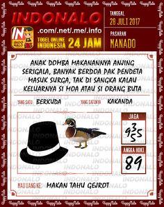 Live 2D Togel Wap Online Indonalo Manado 28 Juli 2017