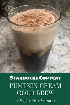 Save money by making your Starbucks at home! Check out this Copy Cat Starbucks Pumpkin Cream Cold Brew + Sugar Free Version Keto Coffee Recipe, Coffee Recipes, Pumpkin Recipes, Fall Recipes, Diy Pumpkin, Drink Recipes, Yummy Drinks, Yummy Food, Tasty