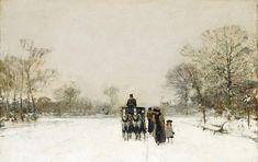 In The Snow Painting by Luigi Loir