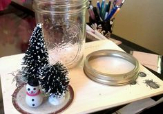 DIY Anthropologie Snow Globes