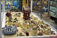 https://flic.kr/p/s6VCLw | Star Wars Tatooine Diorama | by BrickMaster LUG (in ToyFocus:LEGO Store)