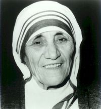 ― Mother Teresa  (See comment for her words of wisdom)