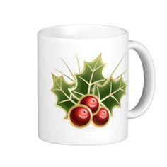 Shining Holly Berry Mug