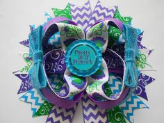Pretty as a Peacock Boutique Hair bow by AllThingsGirlyBows, $8.00