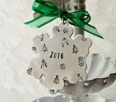 Christmas Ornament Snowflake Ornament 2016 by Unique2chicdesigns