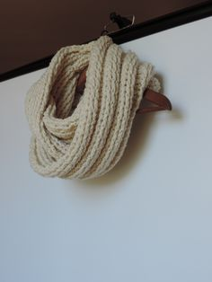 Cream colored infinity scarf