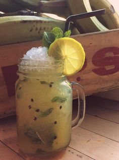 """Let's kick off our shoes and relax on the porch of Sugar Dumplin Caribbean bar and BBQ with a Bajan Mojito in our hand.This twist on the classic recipe incorporates sunny passion fruit, perfect with a Roti or a Creole style stew. Jardena Mae manager told us """"It's fresh, zesty and the kind of thing you can drink all night!"""". https://restaurateurs.resdiary.com/blog/item/360-"""