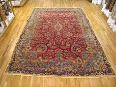"Persian: Floral 15' 0"" x 10' 0"" Vintage Kerman at Persian Gallery New York - Antique Decorative Carpets & Period Tapestries"