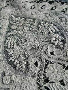 Ideas Embroidery Vintage Antique Lace Beautiful For 2019 Needle Lace, Bobbin Lace, Lace Ribbon, Lace Fabric, Antique Lace, Vintage Lace, Lacemaking, Art Textile, Passementerie