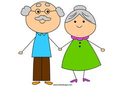 Stick Figure Drawing, Old Couples, Clip Art, Grandma And Grandpa, Grandparents Day, Stick Figures, Little People, Anniversary Cards, Writing A Book