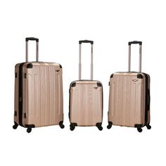 Found it at Wayfair - Rockland Sonic 3 Piece Luggage Set - Color: Champagne