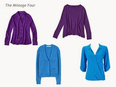 A Four by Four Capsule Wardrobe in Bright Blue, Ultra-Violet, Navy and Grey
