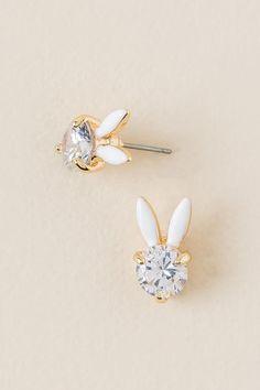 Bunny Cubic Zirconia Stud Earring